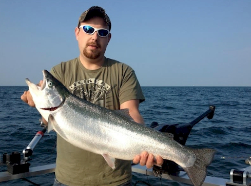 Fishing For Steelhead on Lake Ontario
